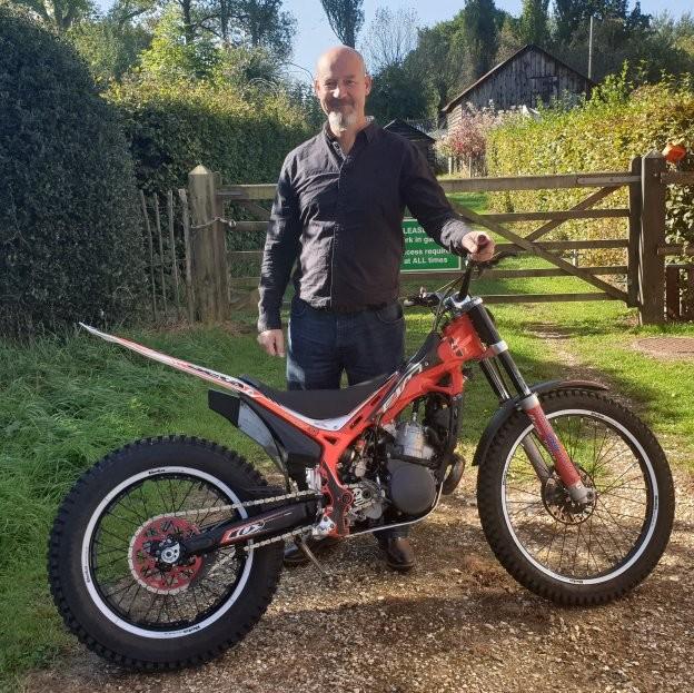 Taking delivery of a Beta Evo 250 trials bike