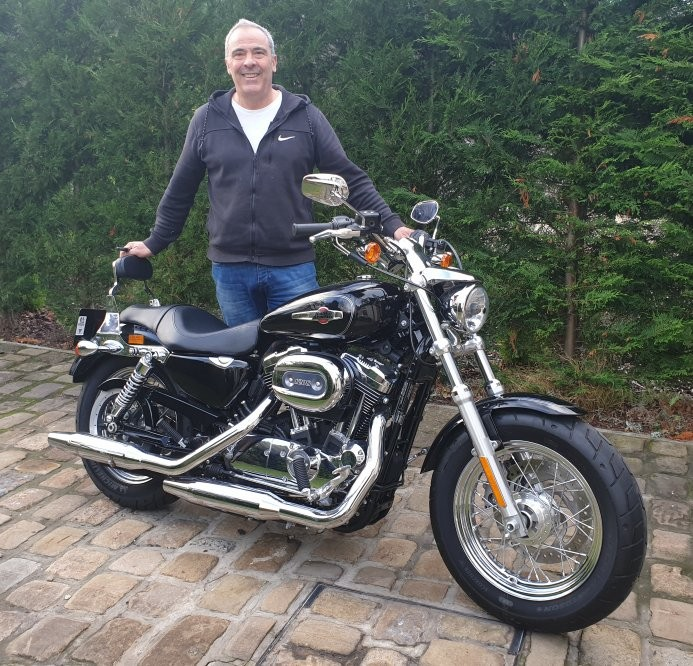 Harley Davidson Sportster with new customer