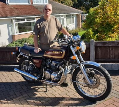 Taking delivery of a Honda CB550