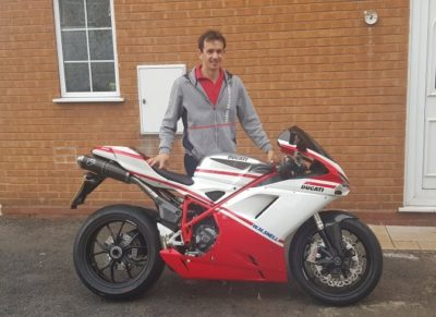 Martin with his Ducati 1098