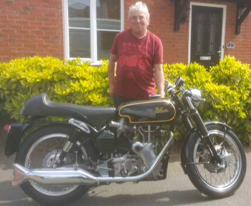 Nick's Velocette Thruxton delivered