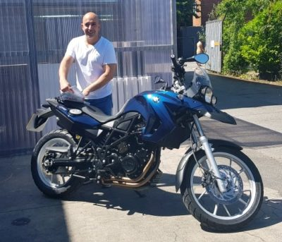 Ravid and his BMW GS650