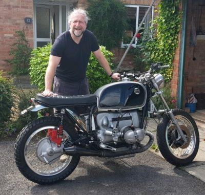 Simon and his BMW Cafe Racer R75