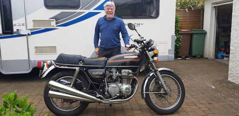 Trevor with his Honda CB550K